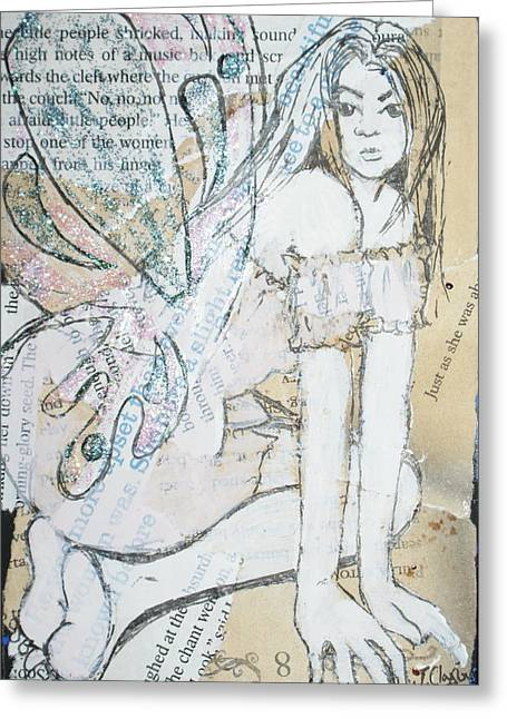 Faries Greeting Cards - The Chant Greeting Card by Joanne Claxton