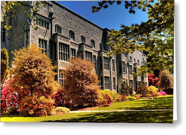 Chem Greeting Cards - The Chem Building At Ubc Greeting Card by Lawrence Christopher