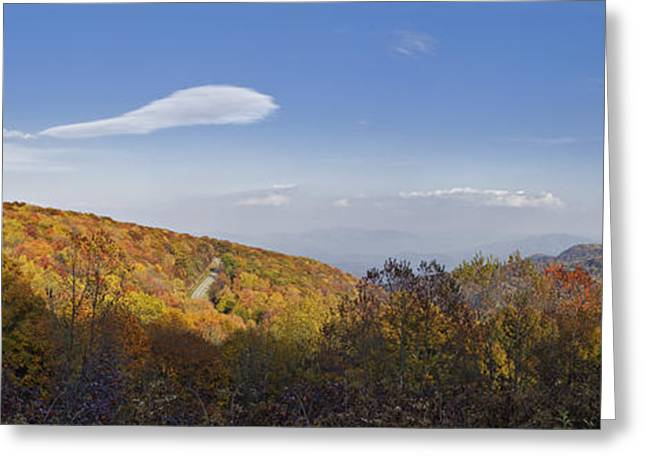 Nantahala Forest Greeting Cards - The Cherohala Skyway - D007130 Greeting Card by Daniel Dempster