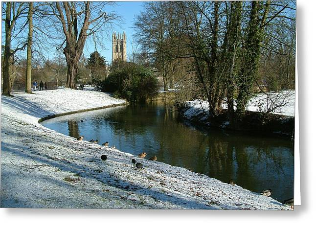 The Cherwell. Greeting Card by Mike Lester