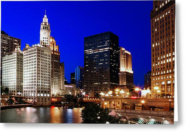 Chi Town Greeting Cards - The Chicago River Greeting Card by Rick Berk