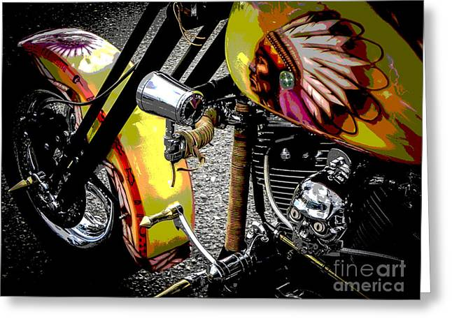 The Chief Rides Greeting Card by Chuck Re