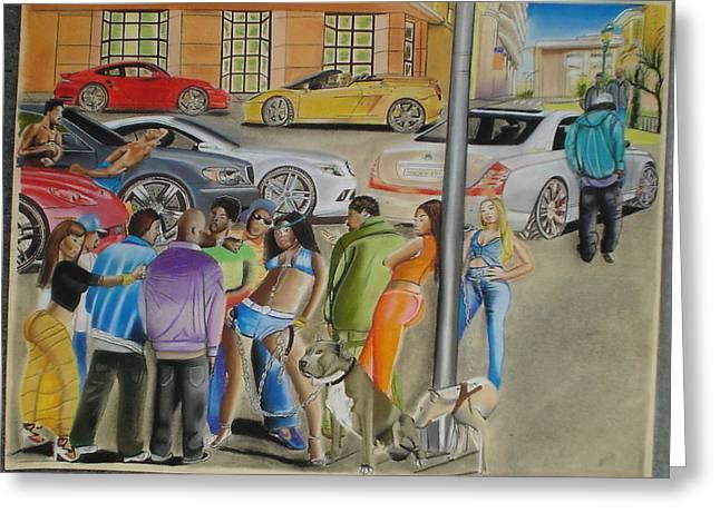 Street Art Pastels Greeting Cards - The Chill1 Greeting Card by Karim Mowatt