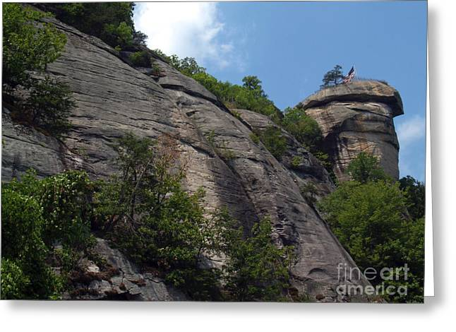 Chimney Rock North Carolina Greeting Cards - The Chimney at Chimney Rock State Park NC Greeting Card by Anna Lisa Yoder