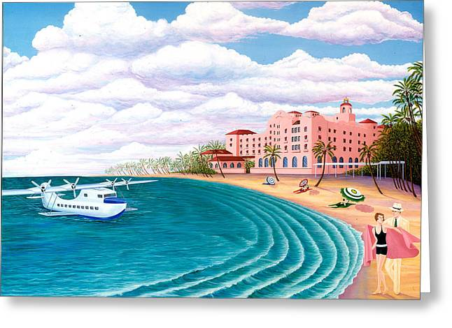 China Beach Greeting Cards - The China Clipper Greeting Card by Tracy Dennison