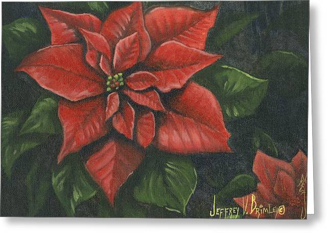 Jeff Greeting Cards - The Christmas Flower Greeting Card by Jeff Brimley