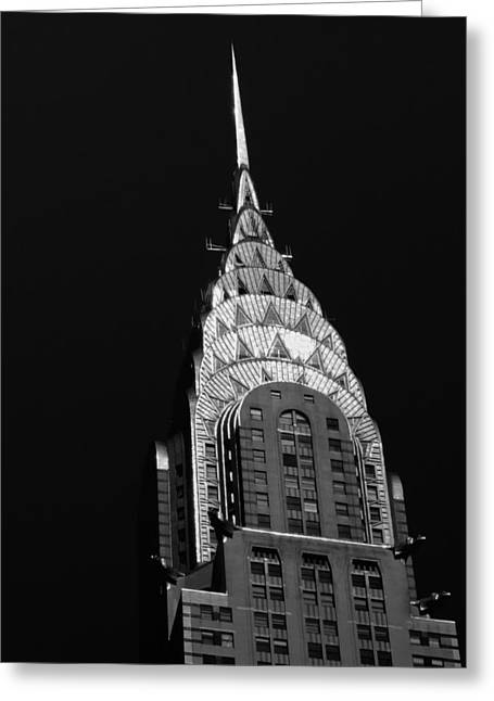 Vivienne Gucwa Greeting Cards - The Chrysler Building Greeting Card by Vivienne Gucwa