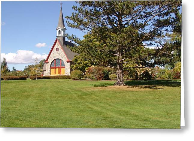 Annapolis Valley Greeting Cards - The Church at Grand Pre Greeting Card by George Cousins