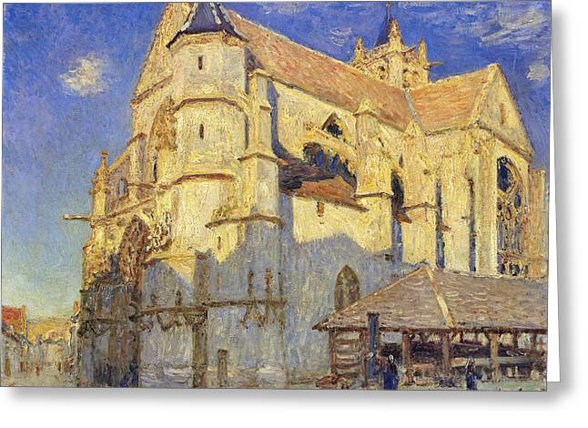 The Church at Moret Greeting Card by Alfred Sisley