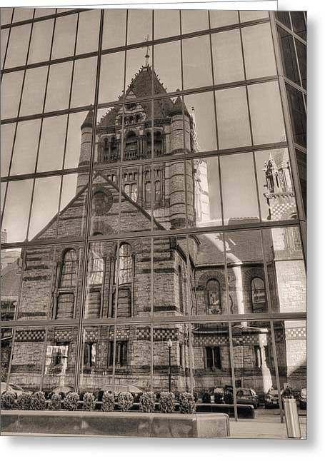Boston Ma Photographs Greeting Cards - The Church Greeting Card by JC Findley