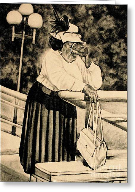 The Church Greeting Cards - The Church Lady Greeting Card by Curtis James