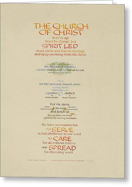 Episcopalian Greeting Cards - The Church of Christ in Every Age I Greeting Card by Judy Dodds