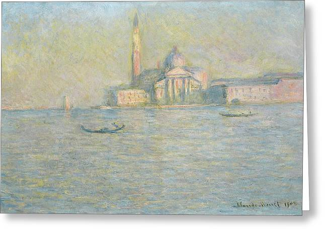 Facades Greeting Cards - The Church of San Giorgio Maggiore Venice Greeting Card by Claude Monet