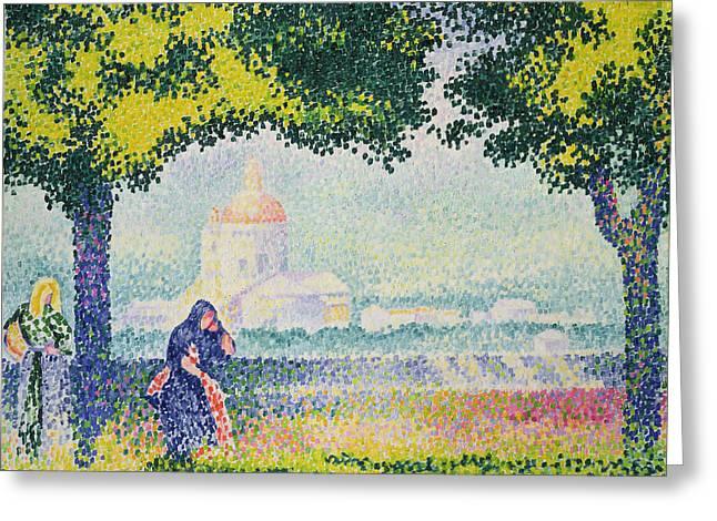 The Church Paintings Greeting Cards - The Church of Santa Maria degli Angeli Greeting Card by Henri-Edmond Cross