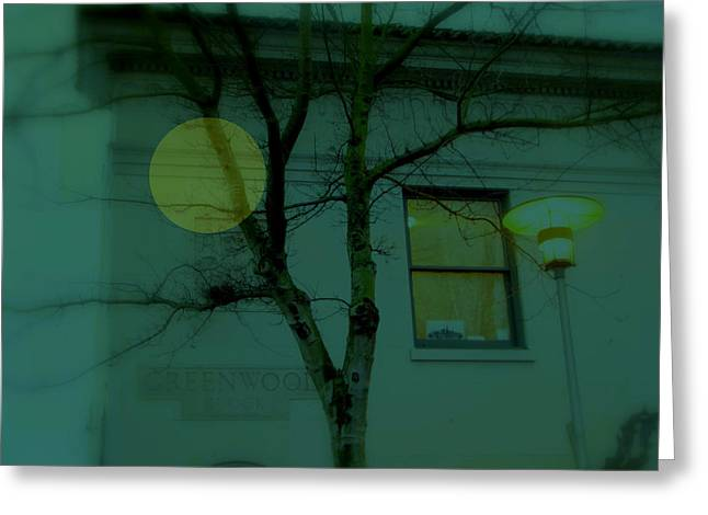 Altered Architecture Greeting Cards - The Circle Golden - Building Light Greeting Card by Kathleen Grace