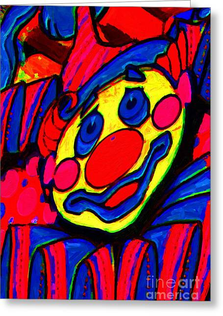 El Dorado Greeting Cards - The Circus Circus Clown Greeting Card by Wingsdomain Art and Photography
