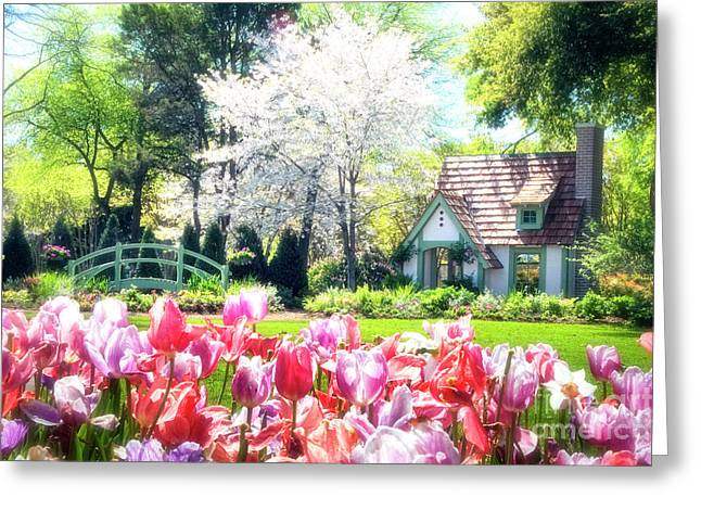 Tamyra Ayles Greeting Cards - The Claude Monet Small House Greeting Card by Tamyra Ayles