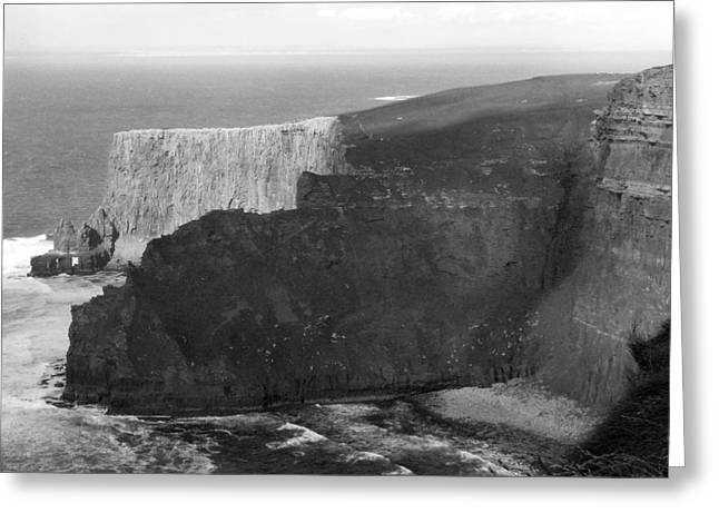 Atlantic Greeting Cards - The Cliffs of Mohar II - Ireland Greeting Card by Mike McGlothlen