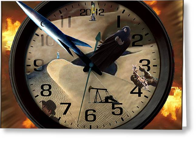 The Clock Is Ticking Greeting Card by E  Kraizberg