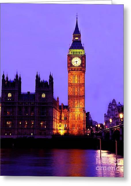 Palace Bridge Greeting Cards - The Clock Tower aka Big Ben Parliament London Greeting Card by Chris Smith