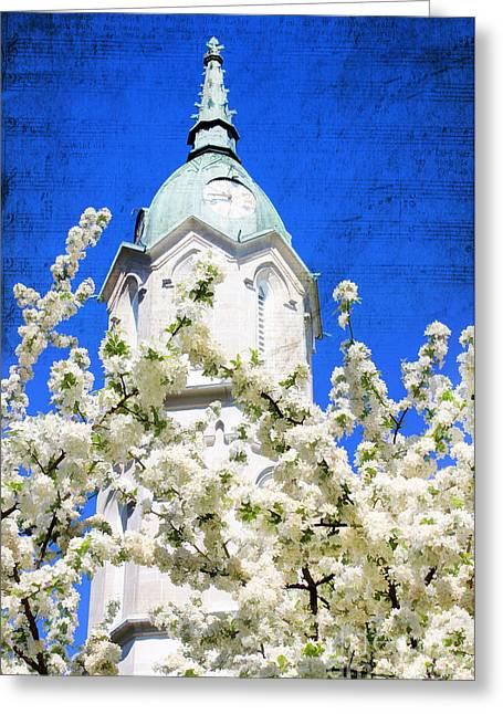 Music Time Greeting Cards - The Clock Tower Greeting Card by Darren Fisher