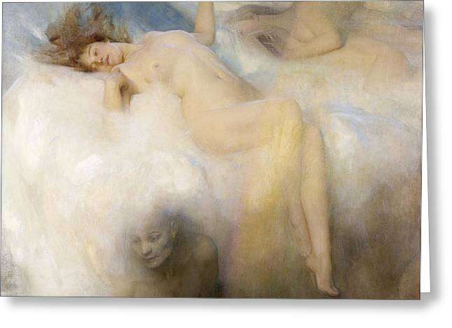 Erotica Greeting Cards - The Cloud Greeting Card by Arthur Hacker