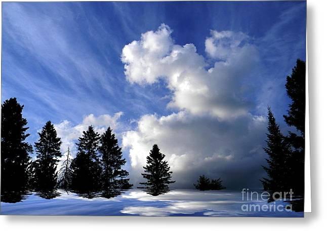 Elfriede Fulda Greeting Cards - The Cloud  Greeting Card by Elfriede Fulda