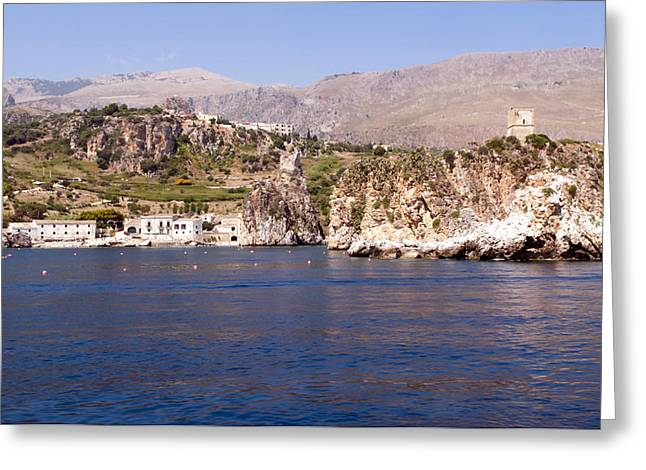 San Vito Lo Capo Greeting Cards - The coast of Zingaro reserve Greeting Card by Focus  Fotos