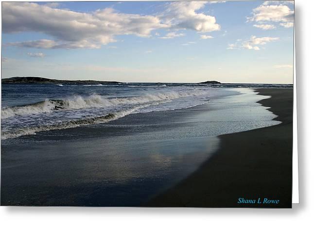Maine Beach Greeting Cards - The Coast Greeting Card by Shana Rowe