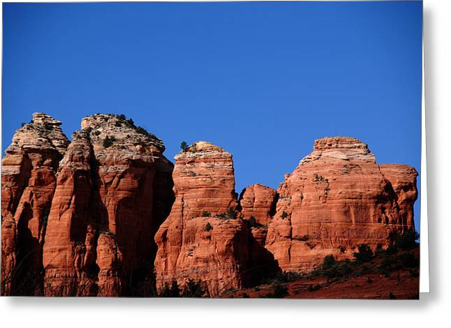 Sedona Mountains Greeting Cards - The Coffee Pot Greeting Card by Susanne Van Hulst