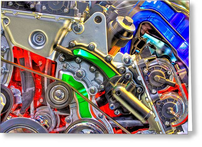 Parts Of Cars Greeting Cards - The Color of Motion Greeting Card by Joshua Ball