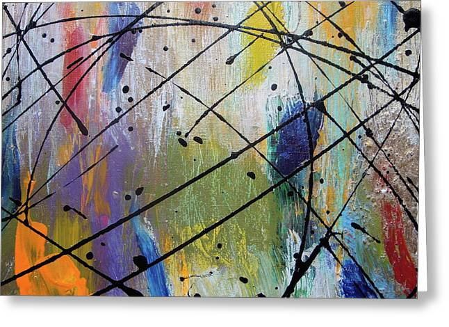 Synesthesia Greeting Cards - The Color of Rain 02 Greeting Card by Melody Dawn Germain