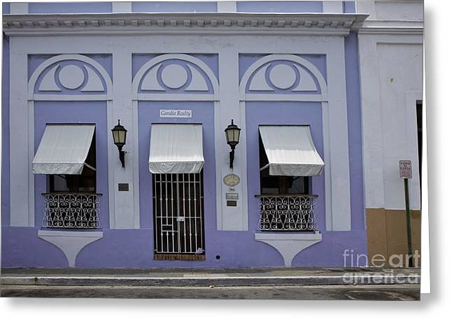 Purple Awnings Greeting Cards - The Color Purple Greeting Card by Timothy Johnson
