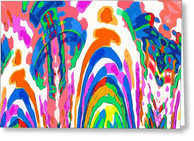 The Colors Fountain Greeting Card by Alec Drake