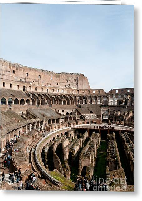 Gladiator Greeting Cards - The Colosseum P Greeting Card by Andy Smy