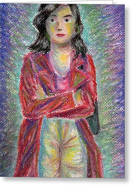 Colorful Photos Pastels Greeting Cards - The colours of a young mother Greeting Card by Simon Rai
