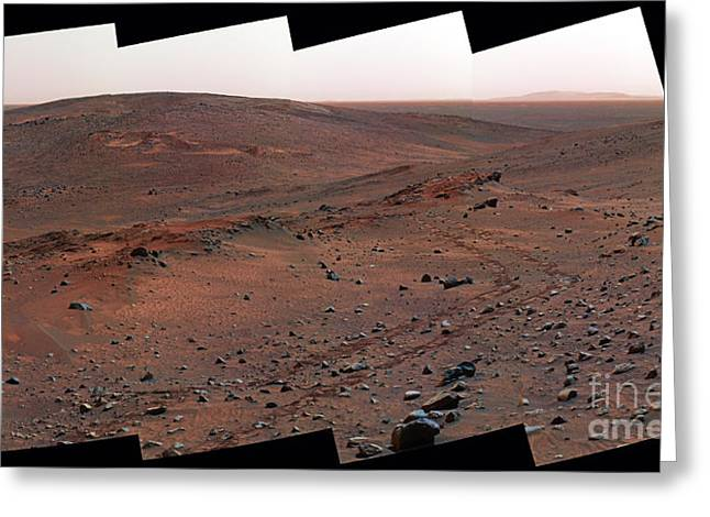 Astrophysical Greeting Cards - The Columbia Hills, Mars Greeting Card by NASA / Science Source