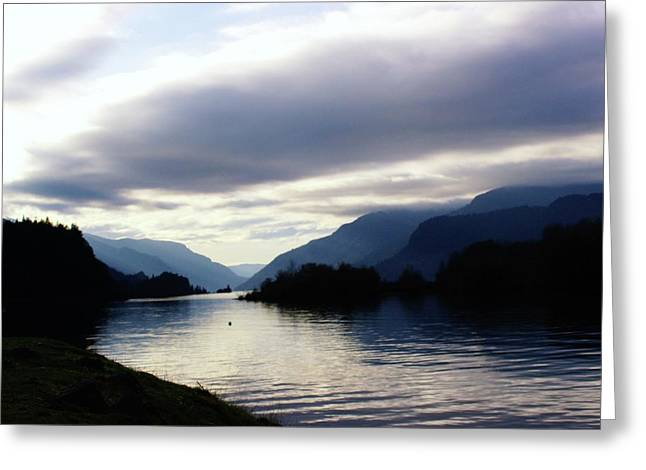 Hood River Oregon Greeting Cards - The Columbia River  Greeting Card by Jeff  Swan