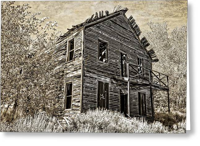 Silver Ore Greeting Cards - The COMET GHOST MINE HOTEL - MONTANA Greeting Card by Daniel Hagerman