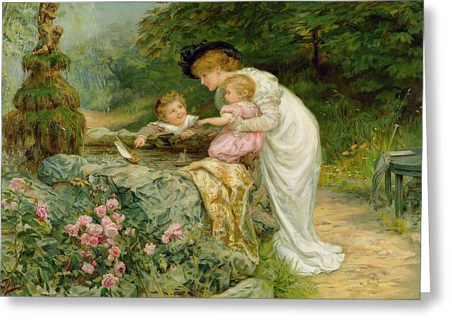 Maternal Greeting Cards - The Coming Nelson Greeting Card by Frederick Morgan