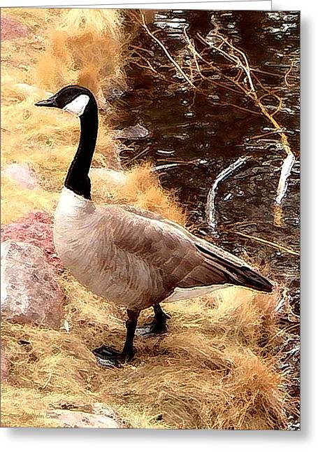 Geese Greeting Cards - The Coming Winter Greeting Card by Cristophers Dream Artistry