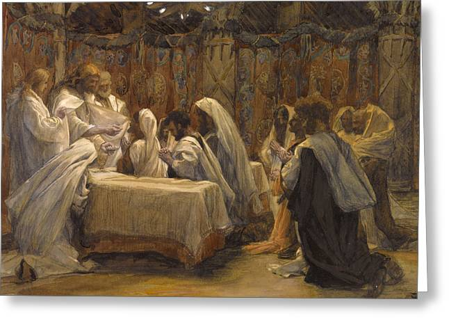 The Followers Greeting Cards - The Communion of the Apostles Greeting Card by Tissot