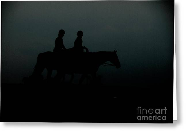 Horseback Riding Digital Art Greeting Cards - The Companions  Greeting Card by Steven  Digman