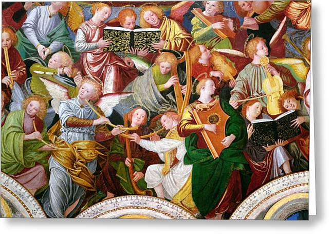 Religious Paintings Greeting Cards - The Concert of Angels Greeting Card by Gaudenzio Ferrari