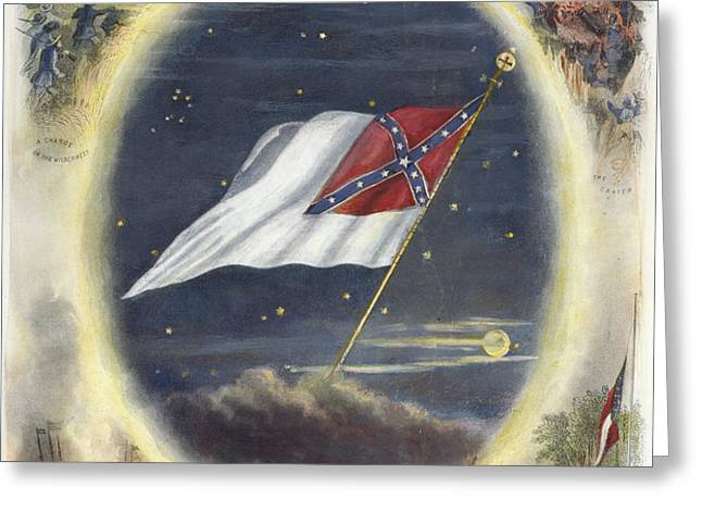 THE CONFEDERATE FLAG, 1867 Greeting Card by Granger