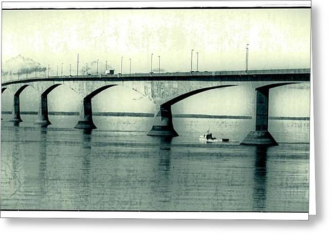 Princes Greeting Cards - The Confederation Bridge PEI Greeting Card by Edward Fielding