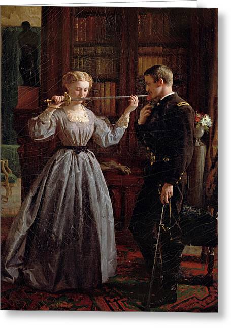 Soldier Of Fortune Greeting Cards - The Consecration Greeting Card by George Cochran