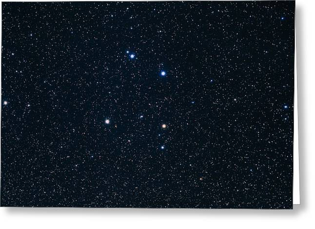 Corvus Greeting Cards - The Constellation Of Corvus Greeting Card by Luke Dodd
