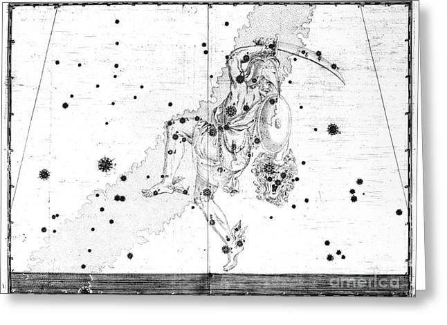 Medusa Greeting Cards - The Constellation Perseus Greeting Card by AMNH/Omikron