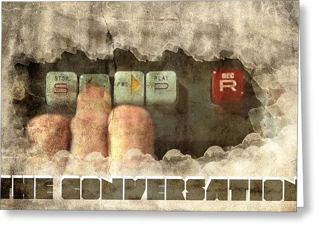 The Conversation Greeting Card by Andrea Barbieri
